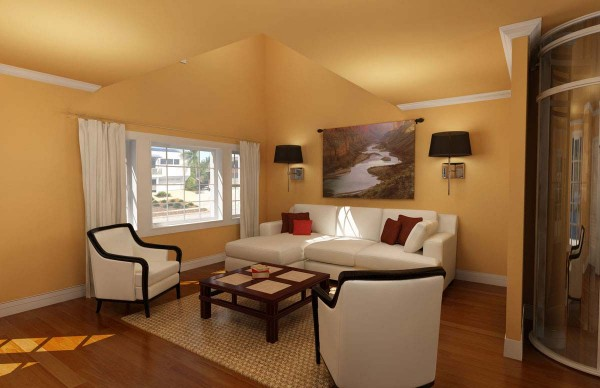 also small living room color schemes also orange color wall painting